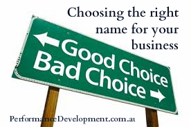 choosing a name for your small business