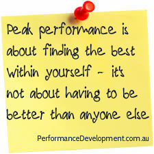 Peak Performance Tips