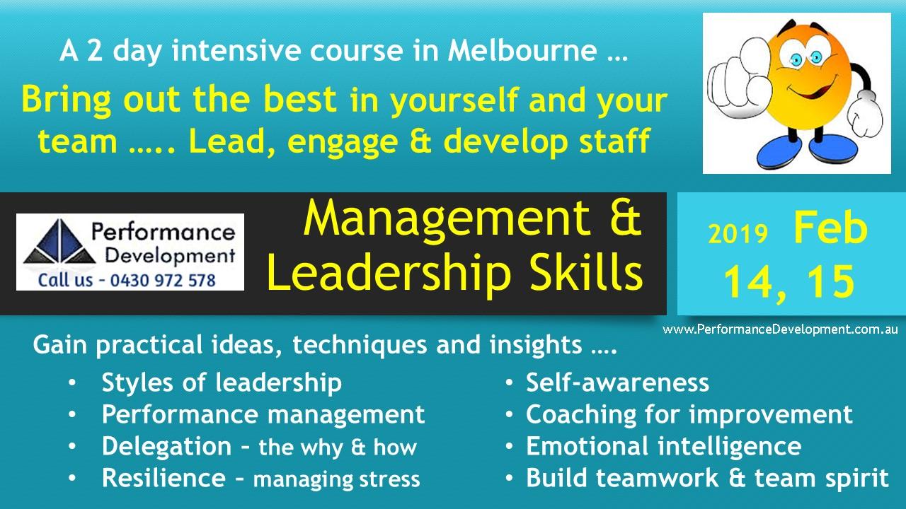 Leadership course Melbourne